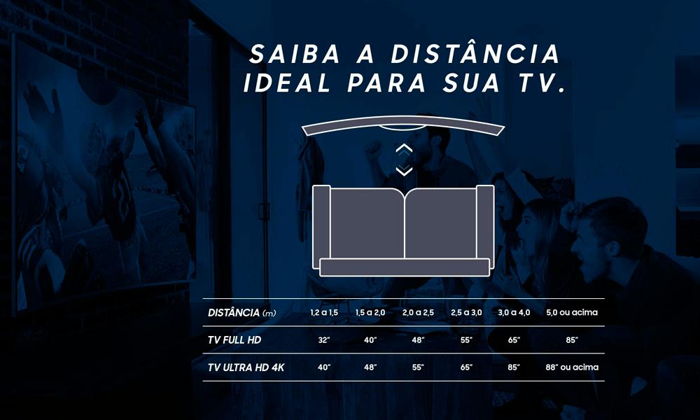Distância ideal para sua Smart TV