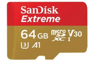Sandisk Extreme 64GB-table