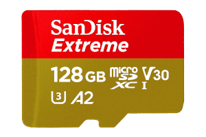 Sandisk Extreme 128GB-table