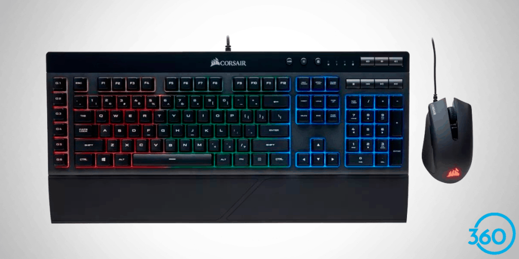 Teclado-Gamer K55 e Mouse Harpoon