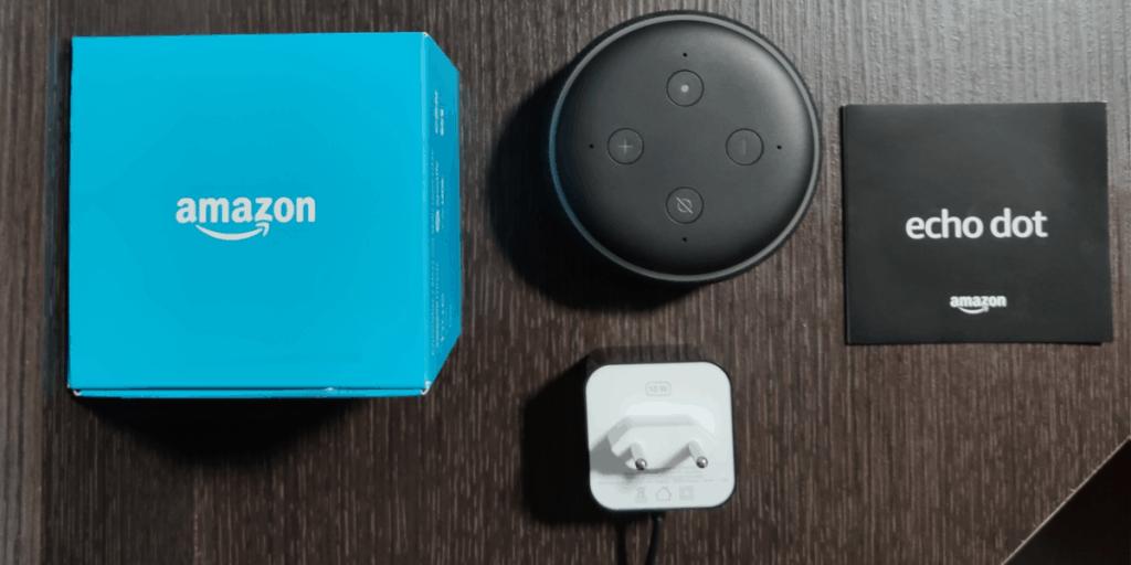 Unboxing Amazon Echo Dot
