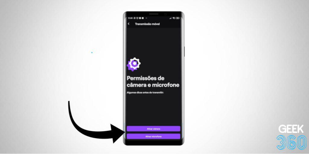 Como Ativar Câmera e Microfone no Celular para Fazer Stream na Twitch