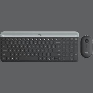 Kit Teclado e Mouse Logitech MK470 Slim