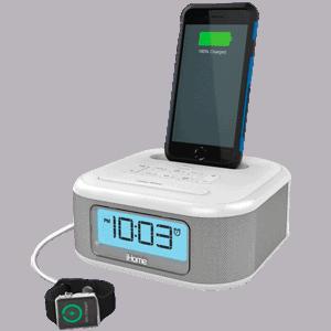 Despertador Digital Radio Relógio com Carregador para iPhone