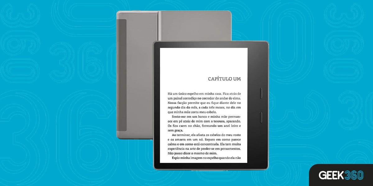 Kindle Oasis Agora com Temperatura de Luz Ajustável