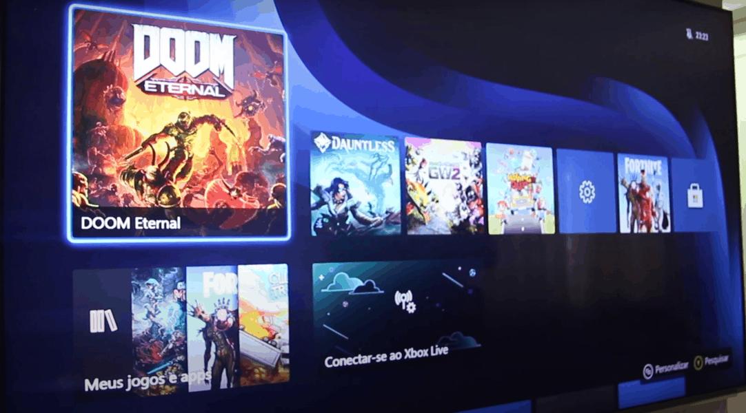 interface e sistema operacional do novo Xbox