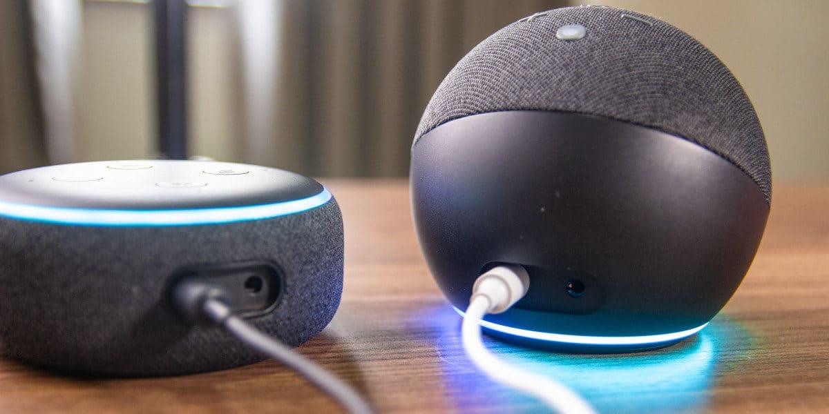 Conexões Echo Dot 3 e 4